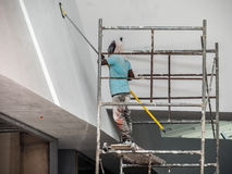 Building site painter Stock Photos