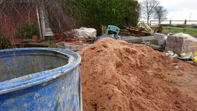 Building site pile of sand Stock Images
