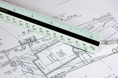 Building Site Plan. Survey Plan for Home Renovation Stock Images