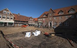 Building site in Ribe Royalty Free Stock Photography