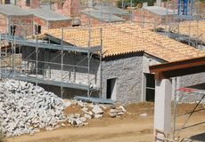 Building site. In the south of Sardinia Stock Images