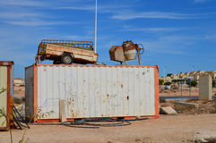 A Building Site In Spain - Construction Builders Tools Site Security Royalty Free Stock Images