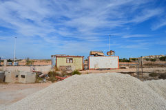 A Building Site In Spain - House Construction Homes Built Builders Yard Royalty Free Stock Photos