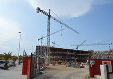 Building Site In Spain Spanish Construction Site - New Houses Royalty Free Stock Photos