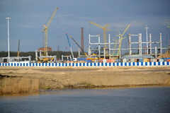 Building site of stadium for carrying out games of the FIFA World Cup of 2018. Kaliningrad Stock Photos