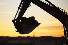 Building site at the sunset Stock Photos