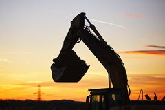 Building site at the sunset Stock Photography