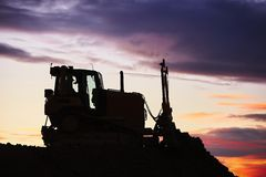 Building site at the sunset Stock Image