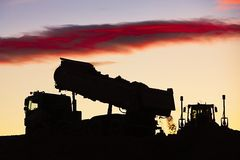 Building site at the sunset Stock Photo