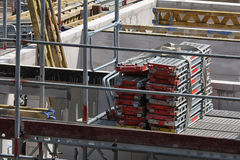 Building site, tools and scaffold II Royalty Free Stock Photo