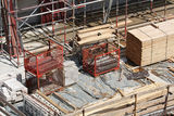 Building site, tools and scaffold 2 Royalty Free Stock Images