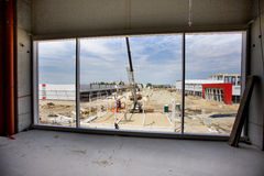 Building site through window Stock Images