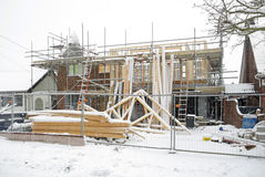 Building site in winter Royalty Free Stock Photos