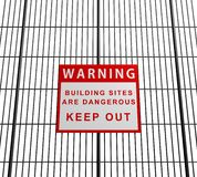 Building sites are dangerous Royalty Free Stock Images