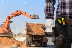 Building sites. Engineers are working at building sites Stock Photography
