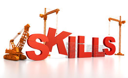 Building Skills royalty free illustration