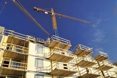 Building sky crane Stock Image