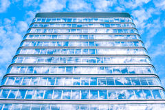 Building with sky reflection Royalty Free Stock Images