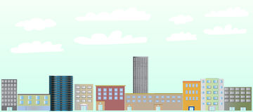 Building Skyline Illustration vector illustration