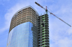 Building of a skyscraper Stock Image