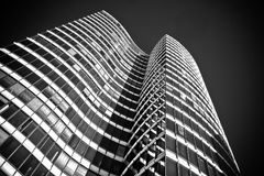 Building, Skyscraper, Black And White, Landmark royalty free stock photography
