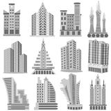 Building and Skyscraper. Easy to edit vector illustration of Building and Skyscraper Royalty Free Stock Images