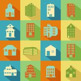 Building and Skyscraper icon Stock Images