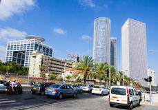 Building skyscrapers in Tel Aviv Royalty Free Stock Images