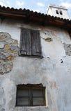 Building in Smartno. Old historic, yet rather delapidated building in the historic Slovenian town of Smartno in the Goriska Brda area Stock Image