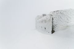 Building in the snow Stock Photography