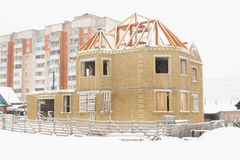 Building and snow Royalty Free Stock Images