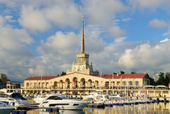 The building of the Sochi seaport Royalty Free Stock Photos