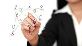 Building social network concept Royalty Free Stock Photos