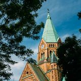 Building Of Sofia Kyrka - Sofia Church In Royalty Free Stock Photo