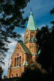 Building Of Sofia Kyrka - Sofia Church In Stock Image