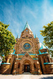 Building Of Sofia Kyrka - Sofia Church In Stockholm, Sweden. One Stock Images