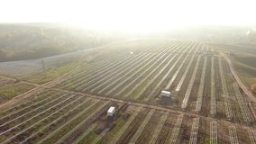 Building solar station stock footage