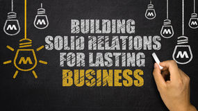 Building Solid Relations For Lasting success Royalty Free Stock Images