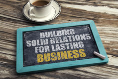 Building Solid Relations For Lasting success Royalty Free Stock Photo