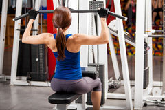 Building some muscle at the gym Royalty Free Stock Photography