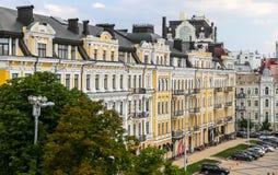 Building in Sophia Square, Kiev, Ukraine. KIEV, UKRAINE - JULY 13, 2018: Historic building in Sophia Square, Kiev royalty free stock photos