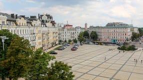 Building in Sophia Square, Kiev, Ukraine. KIEV, UKRAINE - JULY 13, 2018: Historic building in Sophia Square, Kiev stock photos