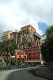 Building in Sorrento. A hotel high on a cliff in the Italian city of Sorrento Stock Photography
