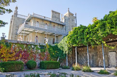Building of the southern terraces of the Vorontsov Palace. Architectural landmark - Building of the southern terraces of the Vorontsov Palace in Alupka, Yalta royalty free stock image