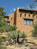 Building In Southwestern United States. A photograph of a building detailing its desert Western/Southwestern USA style architecture royalty free stock photos