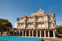 Building of the Spanish embassy Palacio Velasco Havana Royalty Free Stock Photos