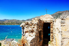 The building on Spinalonga Island Stock Images