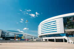 The building of the sports complex Minsk Arena in Stock Photos