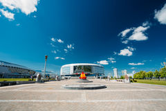 The building of the sports complex Minsk Arena in Royalty Free Stock Photography