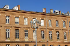 Building in square Le Capitole de Toulouse Stock Photography